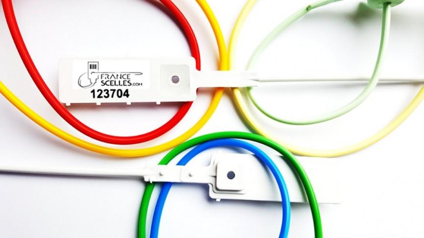 Scellé réglable à tige lisse avec insert métallique anti retour