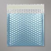 Enveloppe bulles métallisée bleu clair