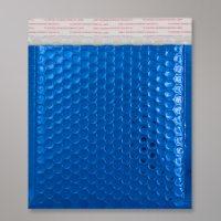Enveloppe bulles métallisée bleu
