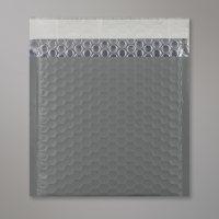 Enveloppe bulles métallisée gris mat