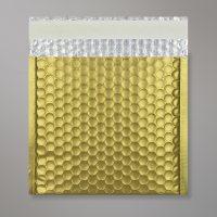 Enveloppe bulles métallisée or