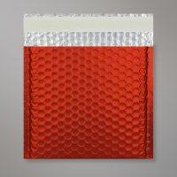 Enveloppe bulles métallisée orange