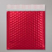 Enveloppe bulles métallisée rouge clair