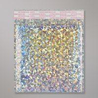 Enveloppe bulles métallisée argent