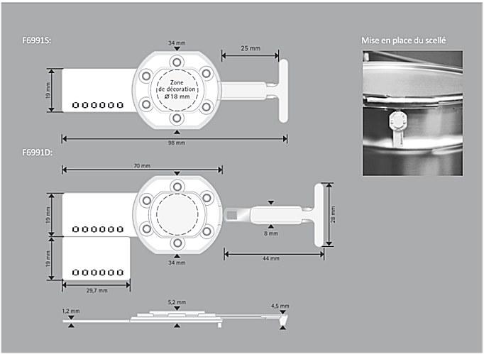 Fiche technique du scellé de sécurité pour fût